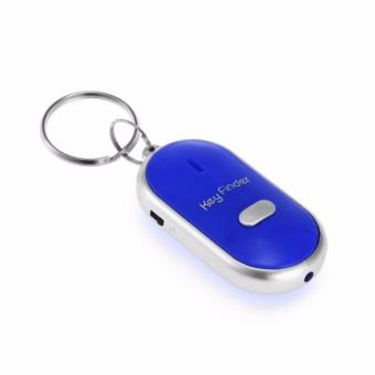 J&J Whistle Key Finder Key Tracker Anti-Lost with LED Light -Blue