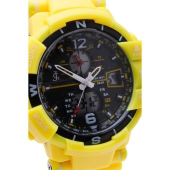 JC Men's Yellow Rubber Strap Watch - picture 2