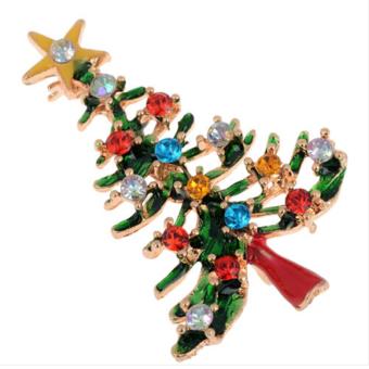Jetting Buy Brooch Crystal Christmas Tree Enamel Rhinestone