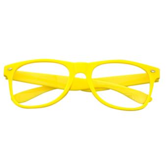 Jetting Buy Clear Lens Glasses Unisex Retro Yellow