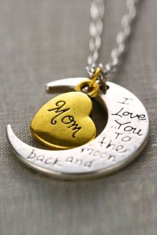 """Jetting Buy Necklace Charm Pendant """"I LOVE YOU """" Mom"""