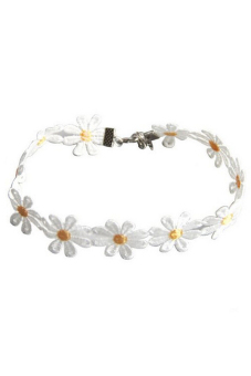 Jetting Buy Women Charm Choker Daisy Yellow White Flowers White