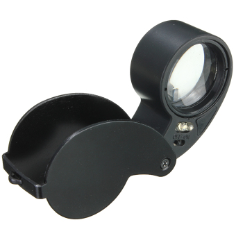 Jeweler Eye Watch Magnifier Glass LED Light Magnifying Jewelry Loupe 40 x 25MM