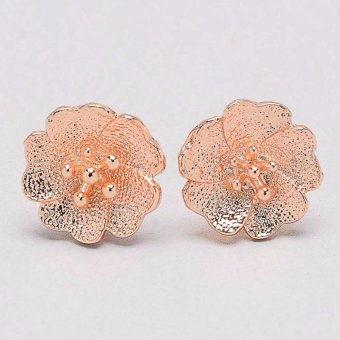 Jewelmine Flower 18k Plated Earrings (Gold)