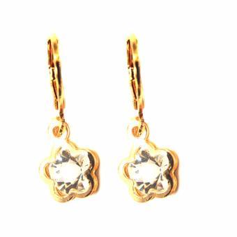 Jewelmine Flower Zircon Jewellery Set(gold) - 4