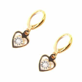 Jewelmine Heart Zircon Jewellery Set (gold) - 4