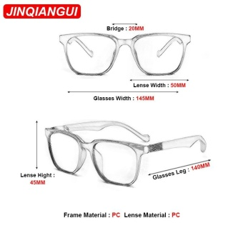 JINQIANGUI Sunglasses Women Square Plastic Frame Sun Glasses Black Color Eyewear Brand Designer UV400 - intl - 4