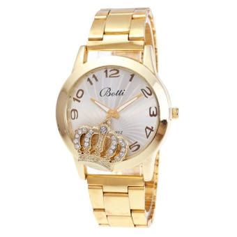 JollyChic Women's Trendy Watch Rhinestone Fashion Stylish Alloy Band Accessory (Gold) - intl