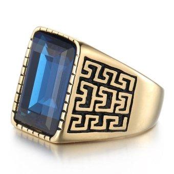 JOY 18 k gold man ring pattern ring - 2