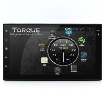 "Junsun 7"" 2 Din Android 6.0 GPS Car DVD Video Player - Black +Silver - intl Price Philippines"