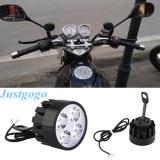 Justgogo 1 Pair Motorcycle Headlight LED Light Spotlight Lamp Universal
