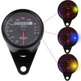 Justgogo Motorcycle Odometer Speedometer LED Backlight Display Universal (Black)