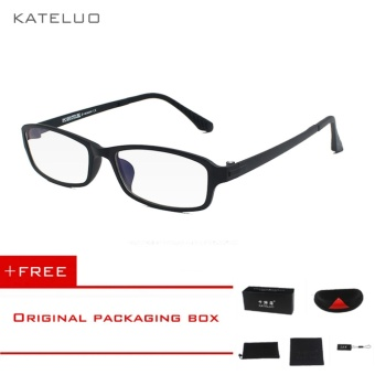 KATELUO TUNGSTEN Computer Goggles Anti Fatigue Radiation-resistant Reading Glasses Frame Eyeglasses 13021(Black) [ free gift ]- intl