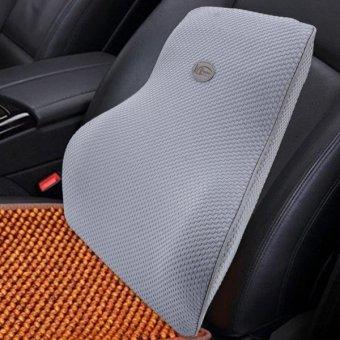 KCB Car Auto Season Universial Bamboo Charcoal Memory Cotton BackRest Cushion Back Pillow Mat - intl