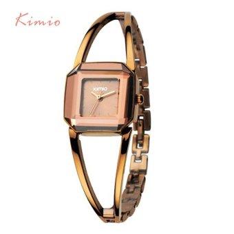 KIMIO Square Fashion Skeleton Bracelet Rose Gold Watches 2017 Luxury Brand Ladies Watch Women Female Quartz-watch Wristwatches - intl - 4