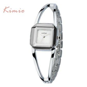 KIMIO Square Fashion Skeleton Bracelet Rose Gold Watches 2017 Luxury Brand Ladies Watch Women Female Quartz-watch Wristwatches - intl - 3