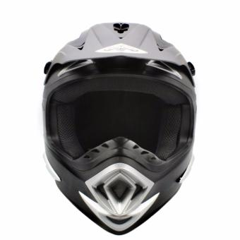 KING COBRA Motocross Motorcycle Helmet by Everstrong (Matte Black)With FlexiMoto Glasses - 3