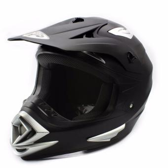 KING COBRA Motocross Motorcycle Helmet by Everstrong (Matte Black)With FlexiMoto Glasses - 2