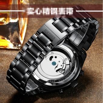 KINYUED Swiss Genuine Waterproof all Black Tourbillon AUtomatic MEchanical WATCH Men's watches - intl - 5