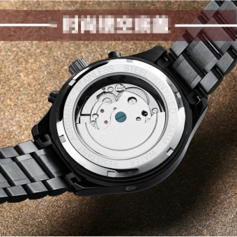 KINYUED Swiss Genuine Waterproof all Black Tourbillon AUtomatic MEchanical WATCH Men's watches - intl - 4