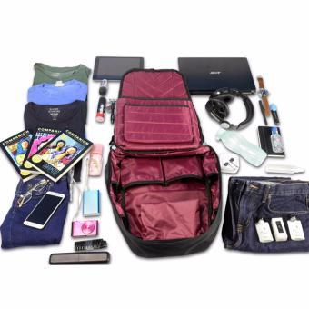 KISHU travel backpack / Hidden zippers/ Anti theft / Laptop /Premium (BLUE) - 4