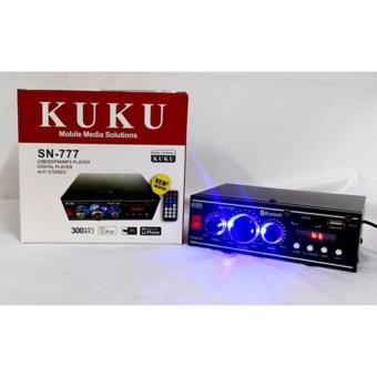 KUKU SN-777 2 Channel BLUETOOTH HI-FI Stereo Audio PowerAmplifier(Black) - 2