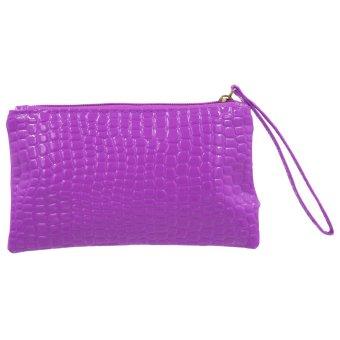 Ladies Travel Vinyl Pouch (Purple)