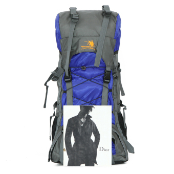 Large hiking camping backpack Outdoor sports bag waterproofbackpack 47L Orang - 5