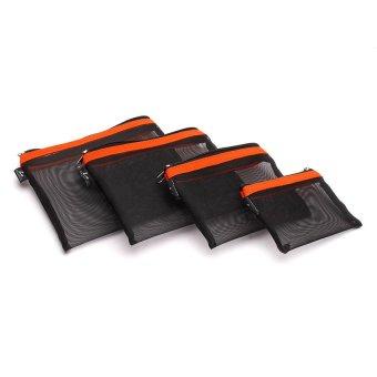Le Organize 4-in-1 Mesh Organizer (Black/Orange)