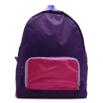 Le Organize Jammies Foldable Backpack (Purple/Pink)