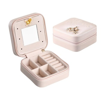 Leather Jewelry Ornaments Storage Boxes Display Case for Earrings Bracelet Ring Necklace - intl