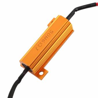 LED Load Resistor Warning Decoder 5W-50W With Two Clips For 12V Cars - 3