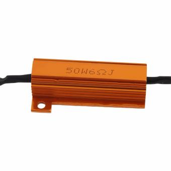 LED Load Resistor Warning Decoder 5W-50W With Two Clips For 12V Cars - 4