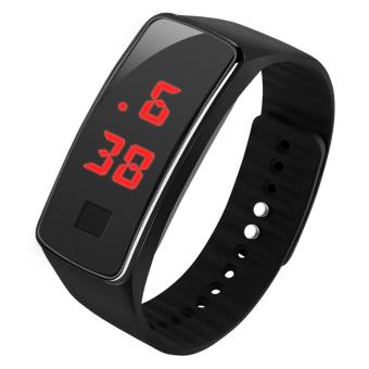 LED Watch Date Sports Digital Rubber Wristband Rectangle DialBracelet