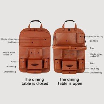 leegoal Car Seat Organizer Bag For Car Insulated Cellphone FoodStorage Organizer In The Car Backseat Hanging Bag Car Basket - 3