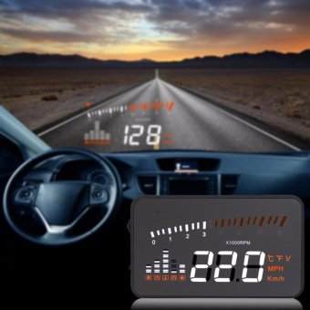 LHR Universal Car HUD X5 3.0 inch Car Head Up Display (Black)