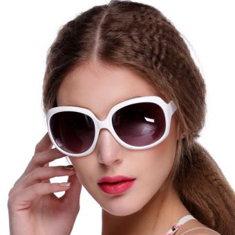 Linemart Retro Oversized Women Sunglasses (White) - picture 2