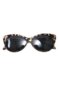 Linemart Retro Sunglasses Cat Sun Glasses (Leopard)