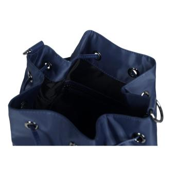 LIPAULT LADY PLUME BUCKET BAG M NAVY - 3