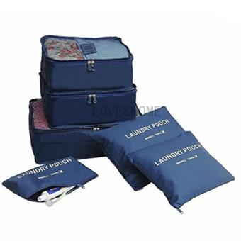 LOVE&HOME 6 in 1 Secret Pouch Travel Organizer Set (DarkBlue,Pink) Set Of 2 - 3