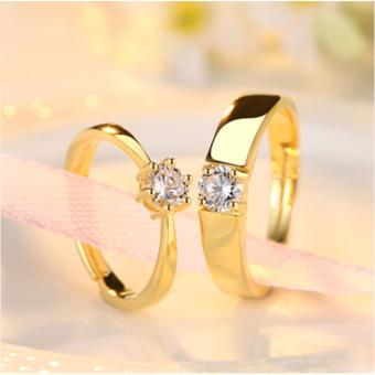 LOVE&HOME Adjustable Couple Rings Jewelry Affectionate LoversRings(Gold) JZ-13 - 3