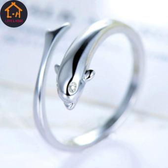 LOVE&HOME Silver Forever Dolphin Opening Adjustable Rings - 3