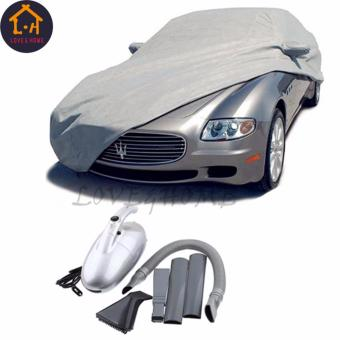 LOVE&HOME Waterproof Lightweight Nylon Car Cover for Sedan Cars With JK-8 1000W Power Vacuum Cleaner (Gray)