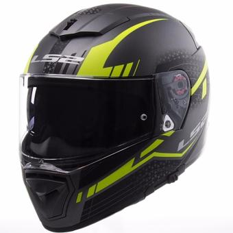 LS2 Full-Face FF390 Split Helmet (Matte Titanium/Yellow)