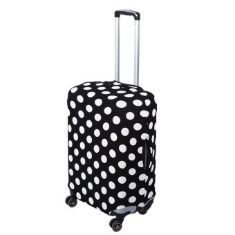 Luggage Elastic Dust-proof Protective Cover(Black White DotsXL26-28) - intl - 2