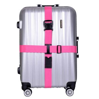 Luggage strap cross belt packing belt adjustable travel suitcaseNylon Non-Lock Buckle strap baggage belt ( Only Sell the Strap)