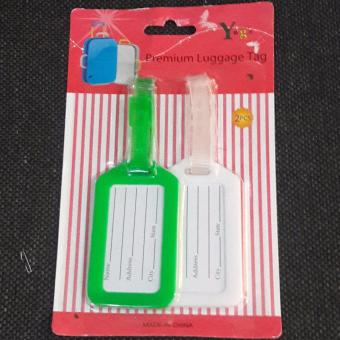 Luggage Tag Couples / Friendship  white and green