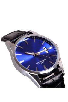 Luxury Leisure Leather Quartz Date Mens Wrist Watch (Blue) - picture 4