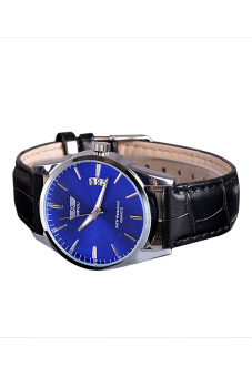 Luxury Leisure Leather Quartz Date Mens Wrist Watch (Blue) - picture 2