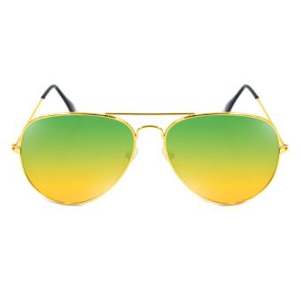 Maldives 000-Y Harper Sunglasses (Gradient Green Yellow/Gold)